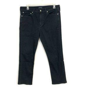 J CREW Dark Wash #770 Straight Leg Jeans 36 x 29